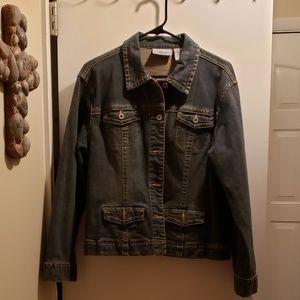 Chico's Platinum Jean Jacket, Size 2